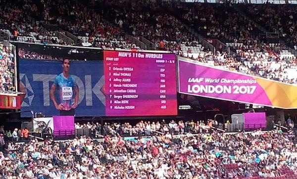 Сергей Шубенков стал серебряным призёром чемпионата мира встолице Англии